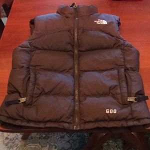 Girls size small the north face brand puffer vest